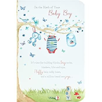 Amazon Com New Baby Boy Card It S A Boy Card New Baby Congratulations Card Includes Heartfelt Message Office Products