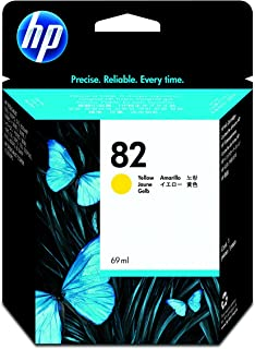 HP 82 Original Yellow DesignJet Ink Cartridge (C4913A)