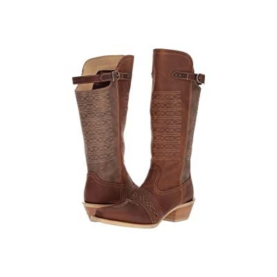 Durango Crush 14 Belted Collar (Vintage Brown) Cowboy Boots