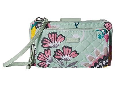 Vera Bradley Iconic Deluxe All Together Crossbody (Mint Flowers) Cross Body Handbags