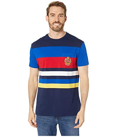 Polo Ralph Lauren Classic Fit Striped Pocket Tee (Cruise Navy Multi) Men