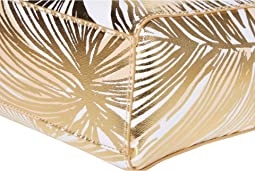 Gold Metallic Fronds Place