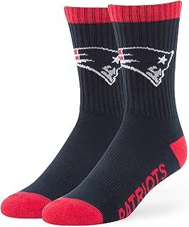 NFL Men's '47 Bolt Casual Dress Crew Socks, 1-Pack