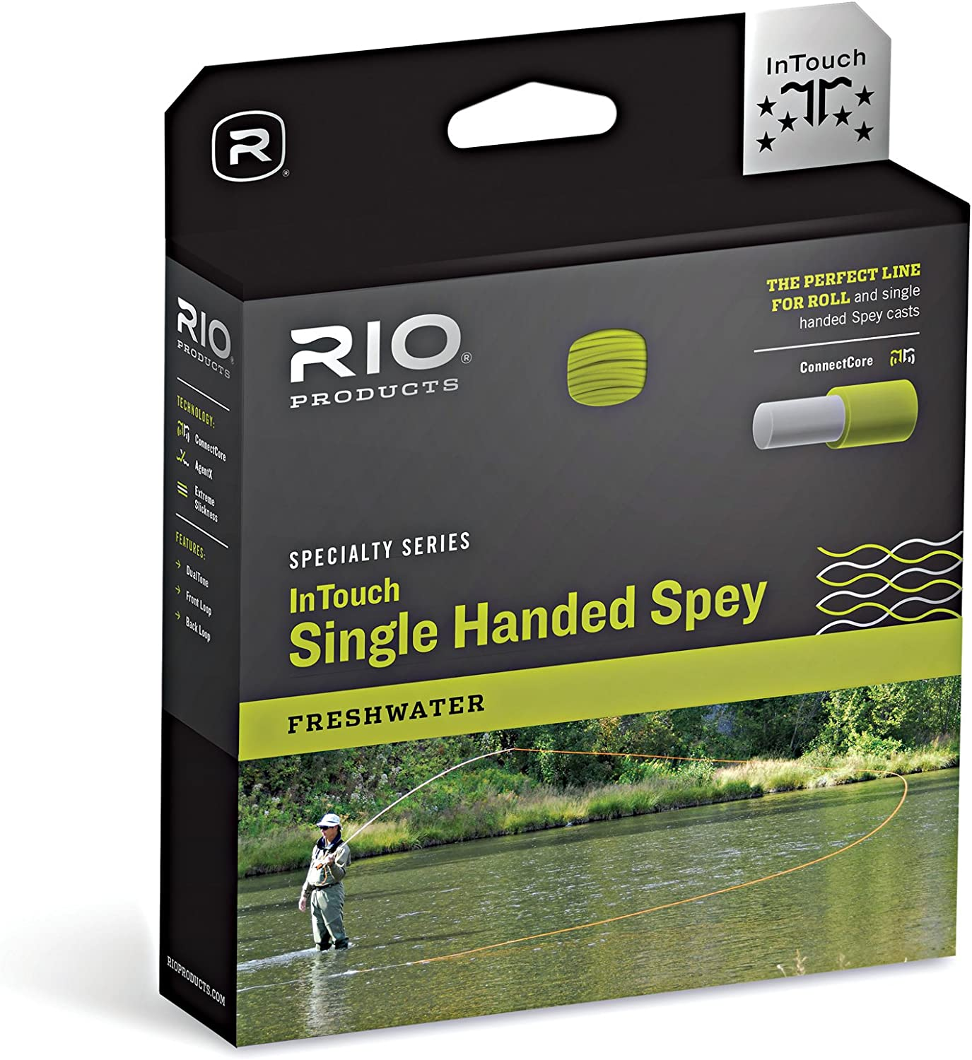 Rio Fly Angeln Fly Line InTouch Hand Spay (3F H I Angeln Line, Clear-camo-Glacial Pfirsich Camo