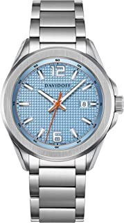 Davidoff Watch 23257 Light Blue Dial Silver Stainless Steel Bracelet