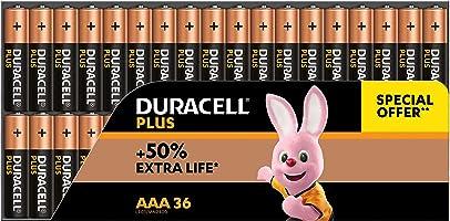 Duracell Plus Mono alkaline batterijen LR20, Grootte AAA 36 Stuk