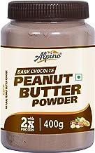 Alpino Peanut Butter Powder Dark Chocolate 400 G (15 G Protein / 3 G Fat / Gluten Free / Non-GMO / Vegan)