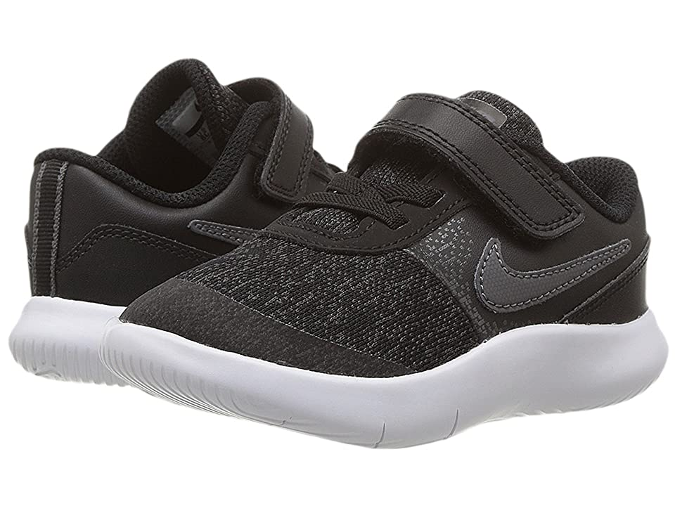 Nike Kids Flex Contact (Infant/Toddler) (Black/Dark Grey/Anthracite/White) Boys Shoes