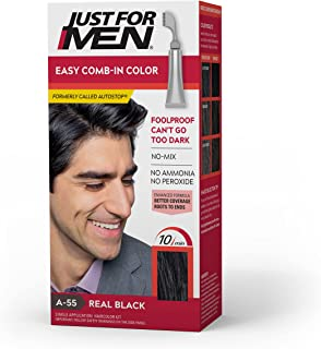 Just For Men Easy Comb-In Color (Formerly Autostop), Gray Hair Coloring for Men with Comb Applicator Included, Easy No Mix...