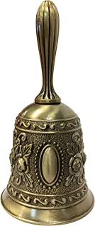 iFavor123 Ornate Hand Bell Intricately Embellished Multi-Purpose Call Bell (Bronze)