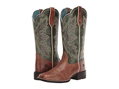 Ariat Breakout (Dark Tan/Treetop Green) Cowboy Boots