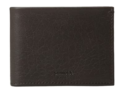 Shinola Detroit Slim Bifold (Deep Brown) Wallet Handbags