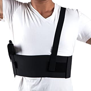 Holster Deep Concealment Shoulder Elastic Tactical Underarm Gun Holster 1911 Glock Ruger LCP M&P Shield Sig Sauer Ruger Kahr Beretta (Large 39-44 Inches, Right)