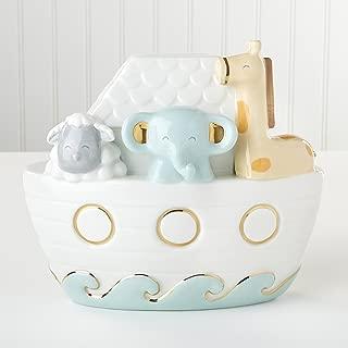 Baby Aspen, Ceramic Noah's Ark Piggy Bank, Keepsake, Nursery Decoration