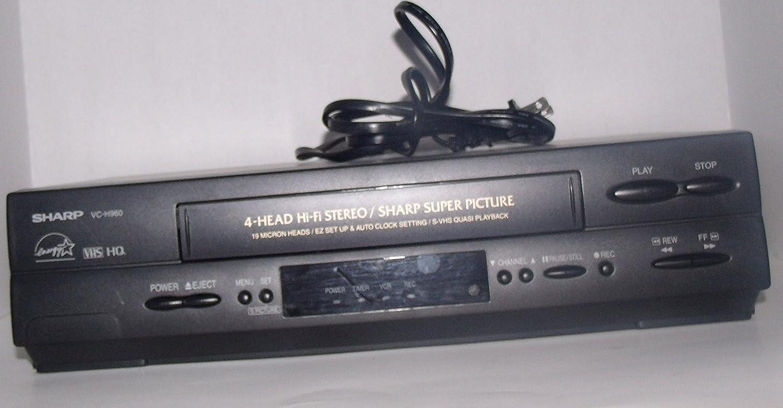 Sharp 4 Head Hi-Fi Stereo VHS HQ/SHARP Super Picture Model: VC-H960U - Without Remote