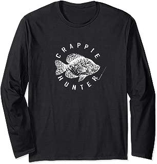 Crappie Hunter Long Sleeve tshirt Fishing Hook