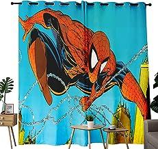 Komische versie van Superhero'S Krachtige Spiderman Vechtbedekking Keuken Gordijnen Super Zachte Home Decor Kamer Verduist...