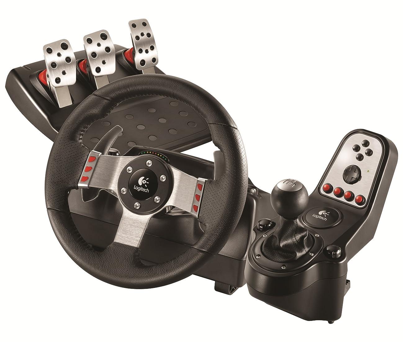 反響する気絶させるまっすぐにするLogitech G27 Force Feedback Wheel and Pedal Set (PS3/PC DVD)