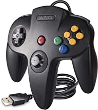 kiwitatá Classic N64 USB Controller, Retro N64 Bit USB Wired PC Game Controller Gamepad Joystick for Windows PC & Mac & Ra...