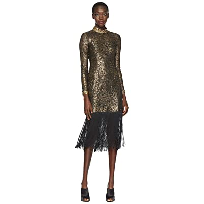 Rachel Zoe Hunter Fringe Dress (Black/Gold) Women