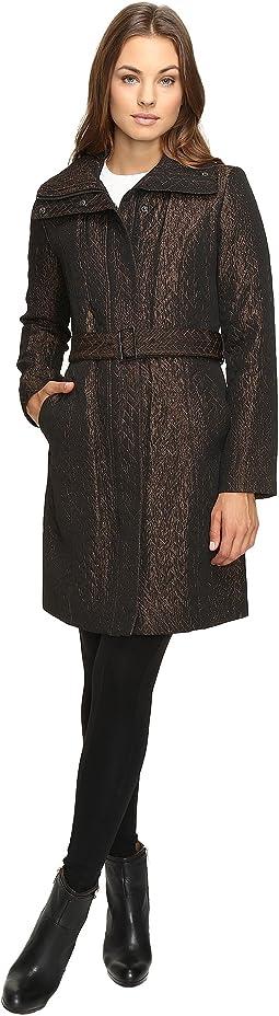 Italian Jacquard Genevieve Weave Coat