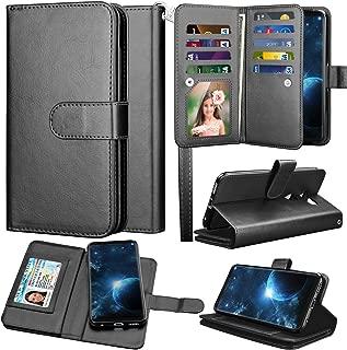 LG V35 ThinQ Wallet Case, LG V30 Wallet Case, LG V30 Plus/ LG V30S ThinQ/ LG V35 Case Wallet, Takfox PU Leather Folio Flip 9 Card Slots Holder with Lanyard Detachable Magnetic Wallet Case-Black