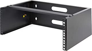 """4U Wall Mount Rack - 19"""" Wall Mount Network Rack - 13.78 inch Deep (Low Profile) - Wall Mounting Patch Panel Bracket for N..."""