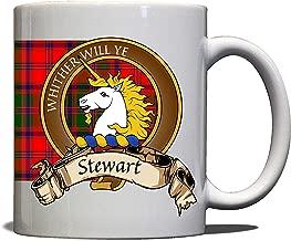 Stewart Scottish Clan Crest Motto Appin Tartan Mug