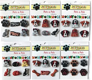 Buttons Galore and More Collection of Novelty 3D Embellishments Shank Buttons Based on Different Themes, Holidays, Seasons for DIY Crafts, Scrapbooking, Sewing, Cardmaking & Other Projects – 36 Pcs