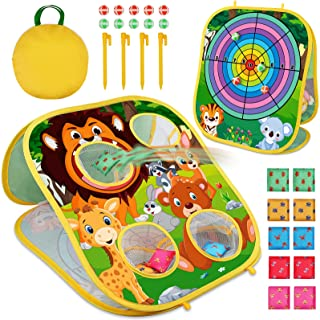 Animal Bean Bag Toss Game Toy Outdoor Toss Game, Family Party Party Supplies for Kids, Gift for Boys Birthday or Christmas...