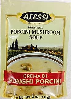 Alessi Crema Di Funghi Porcini - Mushroom Soup Mix, 4 Ounce (Pack of 2)