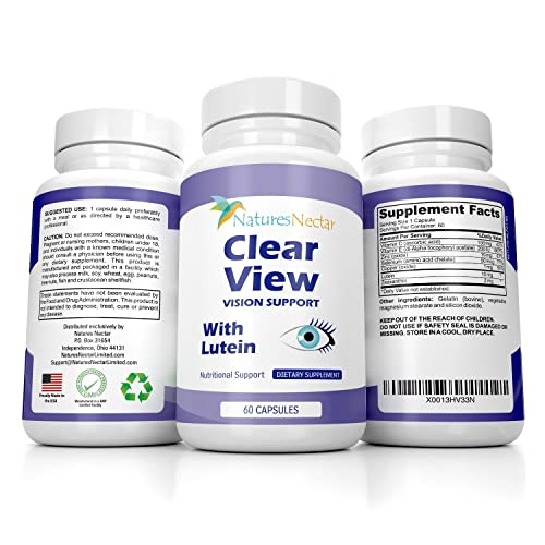 Vision Support Supplement With 10 Mg Lutein And Zeaxanthin To Restore Eye Health Complete Formula
