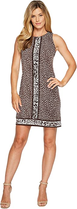 Cheetah Sleeveless Border Dress
