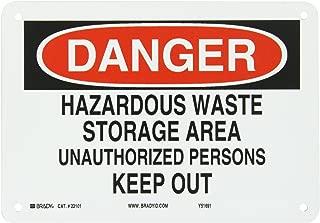Brady 22101 Plastic Admittance Sign, 7