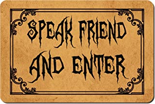 MOMOBO Funny Doormat with Rubber Back -Speak Friend and Enter Door Mat Entrance Way Doormat Non Slip Backing Funny Doormat...