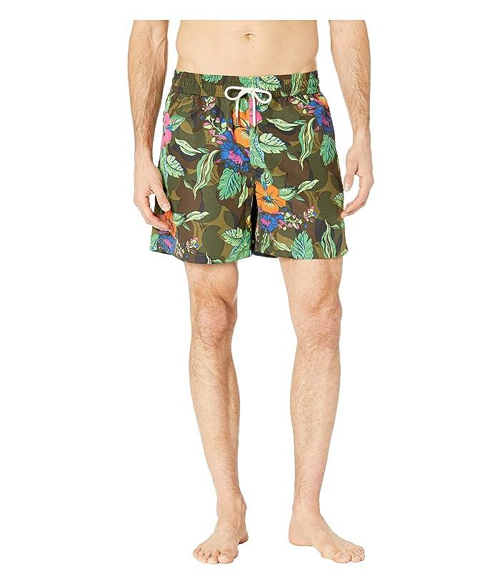 Polo Ralph Lauren Tropical Camo Traveler Swim Trunks (Tropical/Camo) Men