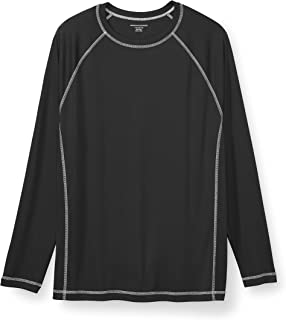 Men's Big & Tall Long-Sleeve Quick-Dry UPF 50 Swim Tee...