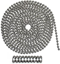 10 Foot Length Ball Chain, Number 10 Size, Stainless Steel, 10 Matching 'B' Couplings