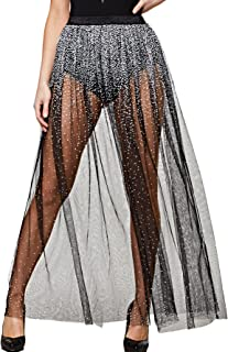 Women's Sexy Sheer Elastic Waist Mesh Skirt Party