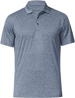 Men's Polo Shirts - Dry Fit Performance Short Sleeve Glof Polo T Shirt for Men