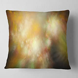 Designart Perfect Yellow Green Starry Sky' Abstract Throw Living Room, Sofa, Pillow Insert + Cushion Cover Printed On Both...