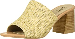 Women's Commute Heeled Sandal, Natural Raffia, 6 M US
