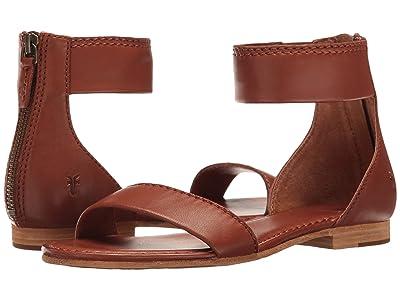 Frye Carson Ankle Zip (Cognac Soft Nappa Lamb) Women