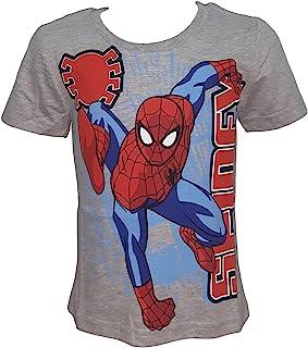 SPIDERMAN T-shirt 98 104 110 116 122 128 giovani MANICA CORTA MARVEL AVENGERS bambini
