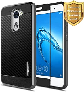 NageBee for Huawei Ascend XT 2 Case with [Full Cover Tempered Glass Screen Protector]..