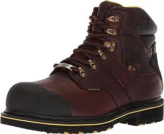 حذاء AdTec رجالي بطول 15.24 سم، تصميم Goodyear Welt Construction، حذاء برقبة كاحل من الجلد، بني غامق، 11 W US