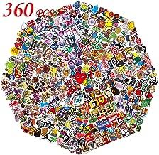 QWDDECO Sticker Pack (360 PCS) Vinilo Pegatinas para portátiles, botellas de agua, equipaje, monopatín, PS4, Xbox one, Iphone, los mejores regalos para adultos, adolescentes, niños y niñas.Calcomanías
