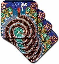 3dRose Folk Art, Huichol Art, Santa Fe, New Mexico - Us32 Jmr1118 - Julien McRoberts - Ceramic Tile Coasters, Set of 4 (CST_92754_3)