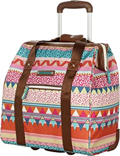 Lily Bloom Design Pattern Carry on Bag Wheeled Cabin Tote (On The Powl)