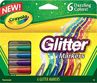 Crayola 绘儿乐 6色闪粉水彩笔 58-8629